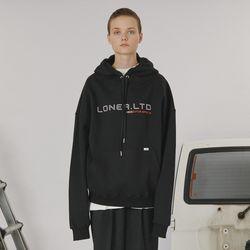 Outline logo hoodie -black