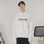 Stitch point hoodie -white