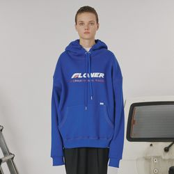 Stitch point hoodie -blue