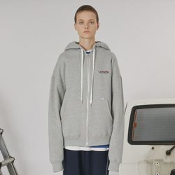 Stitch point hoodie zipup -gray