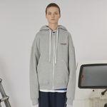 Stitch point hoodie zipup -gray
