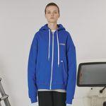 Stitch point hoodie zipup -blue