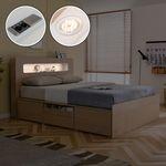 에단 듀얼포트 LED 수납 침대(Q&K)