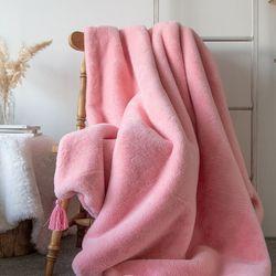 마일드밍크태슬블랭킷-핑크(L)