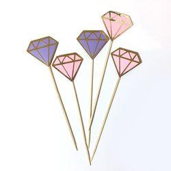 [브라이덜샤워 파티용품] 다이아몬드 보석 토퍼 (6p1set)