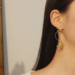 Bring More Love- Cupid and Ring Earrings