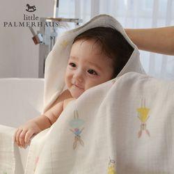 토토리 레빗돌 양면 아기목욕타올 1장 거즈수건 블랭킷 속싸개