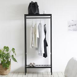 순수원목 드레스룸행거 컬러 (중형 또는 5단선반 택1)
