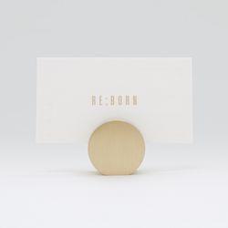 황동 골드 명함꽂이 메모홀더 - 원형