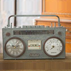 R525 철재 라디오 탁상시계