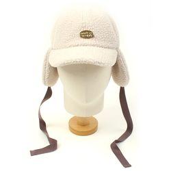 Ivory Fleece Ear Flap Cap 귀달이모자