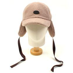 Brown Fleece Ear Flap Cap 귀달이모자