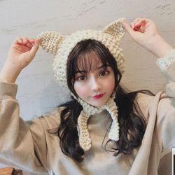 [갓샵 5color 고양이 니트귀도리] 여자 귀돌이 뜨개귀마개