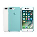 [Apple] 애플 아이폰7플러스 실리콘 케이스 씨블루