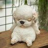 G370 졸고있는 아기 강아지 장식소품