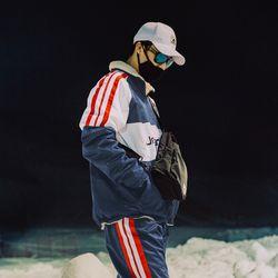 어반그레이 신상 보드복 양면양털자켓 - NAVY