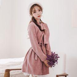 미니 핑크 허리치마a