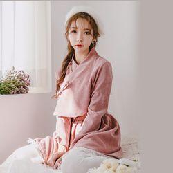 생활한복세트 분홍화+미니 핑크sets