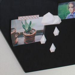 구름비 마그넷 자석타공판꾸미기 인테리어소품