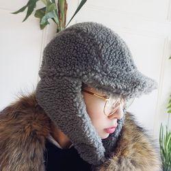 뽀글이 양털 퍼 귀도리 모자n0103
