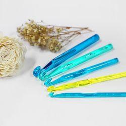 왕코바늘 모사용 플라스틱 5종세트 나은몰 뜨개질바늘 부자재