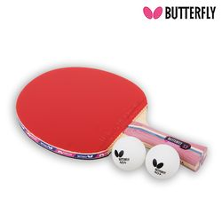 Butterfly NAKAMA S3 쉐이크 (양면)형 탁구라켓+운동팔찌or발찌