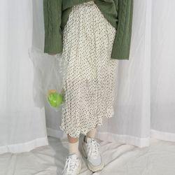 Lovely dot long skirt2