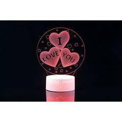 3D LED 무드등 [HQ버전] I LOVE YOU (CBT940015)