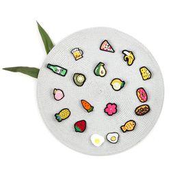 과일 자수 브로치