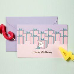 식빵뚱냥 축하카드 - Happy Birthday