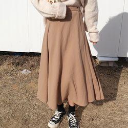 Wrap long skirt