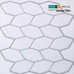 [보닥타일]손쉽게 붙이는 보닥타일 헥사 모노화이트