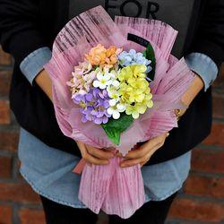 파스텔 수국 비누 꽃다발 - 유치원 재롱잔치 졸업식 발표회