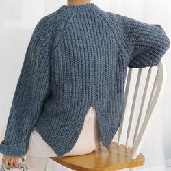 Slit wool knit(울10)