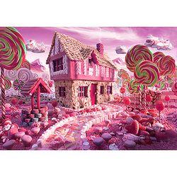 핑크 쿠키하우스 1000조각 목재퍼즐 직소퍼즐 WPK1000-22