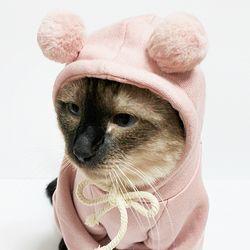 몽페레 포근폼폼후드 (Cozy Pink)