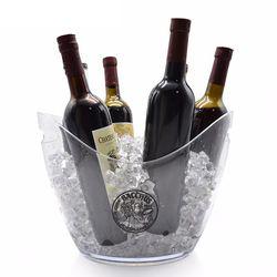 중형 투명 타원형 아이스버켓 8L 와인 칠러 쿨러 아이스버킷
