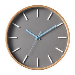에바.인덱스벽시계 (Gray Natural)
