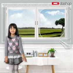 다샵 창문형 지퍼식 방풍비닐 투명 200x120
