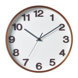 에바.넘버벽시계(White Walnut)