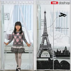 현관/방문 방풍비닐 EVA 에펠탑 투명 100x210