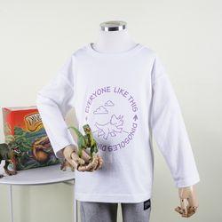 [다이노솔즈] 트리케라 산책 티셔츠WH