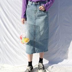 Denim long skirt3