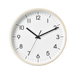 심플 우드벽시계 (화이트)