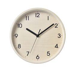 심플 우드벽시계 (내추럴)