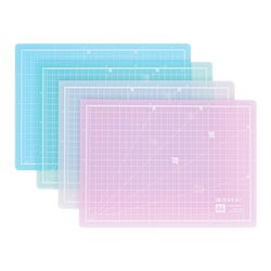 컬러투명 컷팅매트 HOM-A4 색상선택 커팅매트 데스크