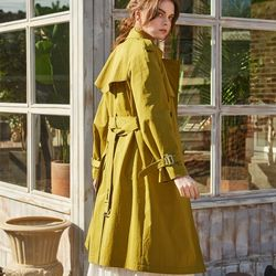COTTON TRENCH COAT OLIVE GREEN