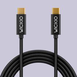 위키오 C타입케이블  CRU001  5A 고속 충전  C to C 케이블  1m