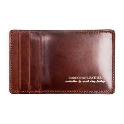 212 Y CARD WALLET- RIGID CORDOVAN