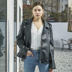 여성 가죽 라이더 자켓 봄자켓 레더 남녀공용 시밀러룩 커플자켓
